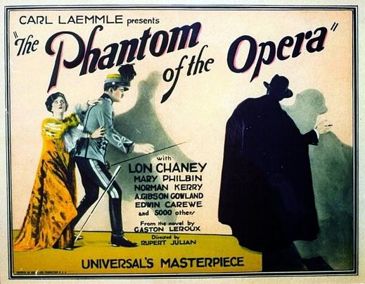 """""""פנטום האופרה"""" (""""Phantom of the Opera"""") - סרט  אילם אגדי  (1925)  בליווי עוגב ותזמורת."""