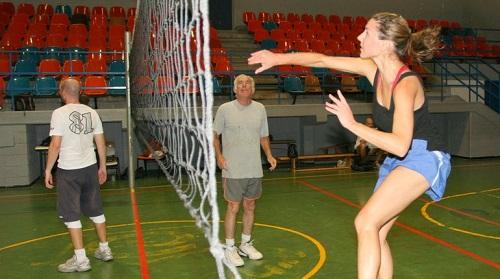 אימון כדורעף חובבים