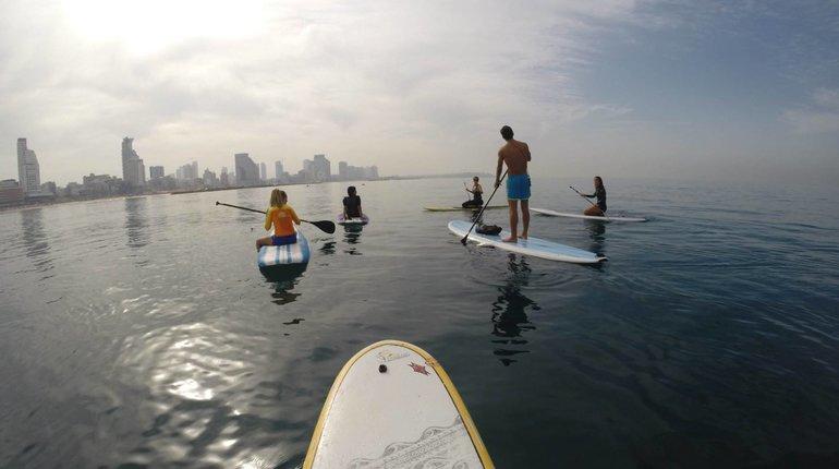 פעילות ספורט אירובית חווייתית על SUP